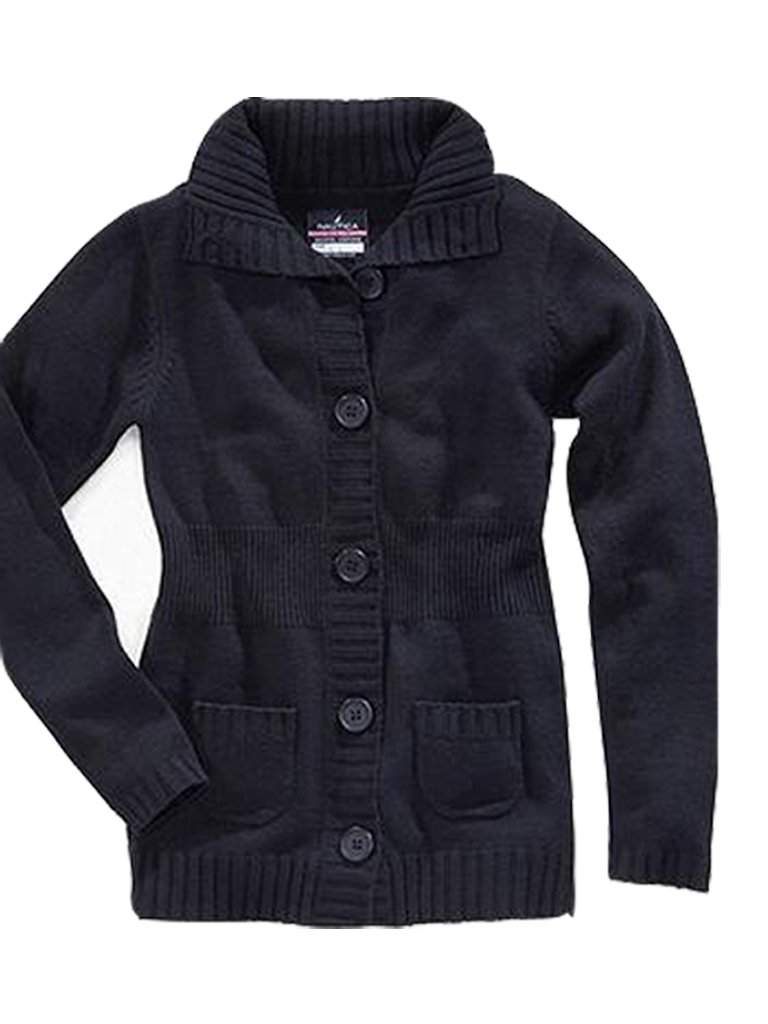 Nautica Girl's School Uniform Cardigan Sweater by Nautica - My100Brands