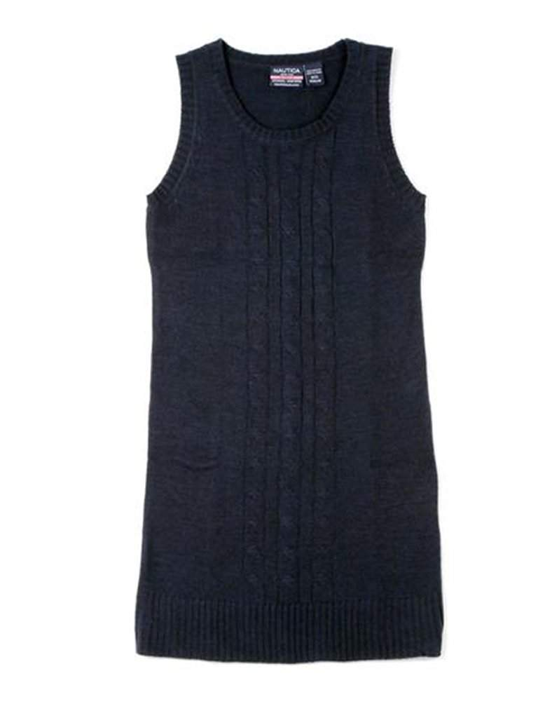 Nautica Girls' Cable Sweater Vest Dress by Nautica - My100Brands