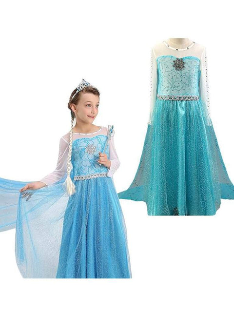 Girls' Frozen Snow Queen Elsa Halloween Costume by My100Brands - My100Brands