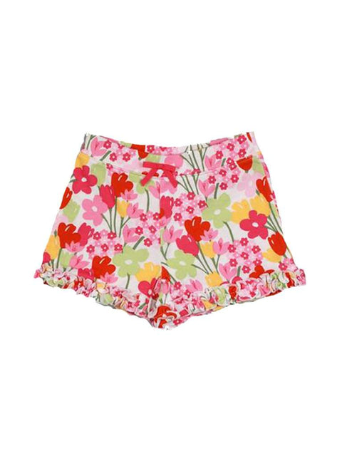 Girls Ruffle Bow Floral Short by My100Brands - My100Brands
