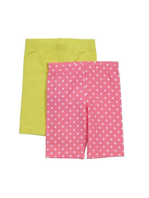 Carter's Girl's Neon Polka Dot Bike Short 2-Pc by Carters - My100Brands