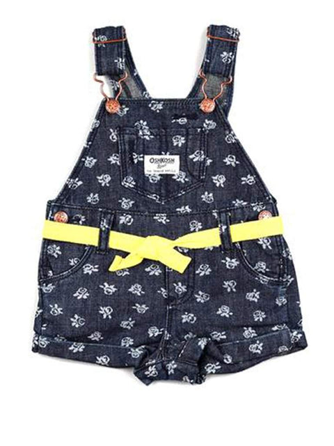 OshKosh B'Gosh Floral Denim Shortall by OshKosh B'gosh - My100Brands