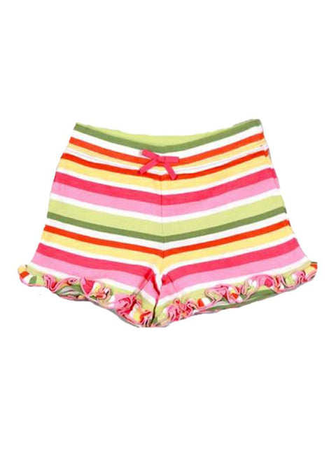 Girls Ruffle Bow Stripe Short by My100Brands - My100Brands