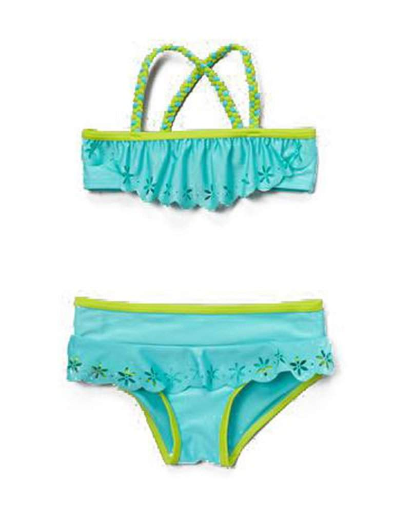 Rugged Bear Girls' Swimwear - Light Blue by Wippette - My100Brands