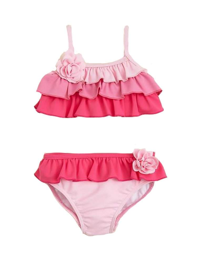 Juicy Couture Infant Girl's Pink Ruffle Bikini by Juicy Couture - My100Brands