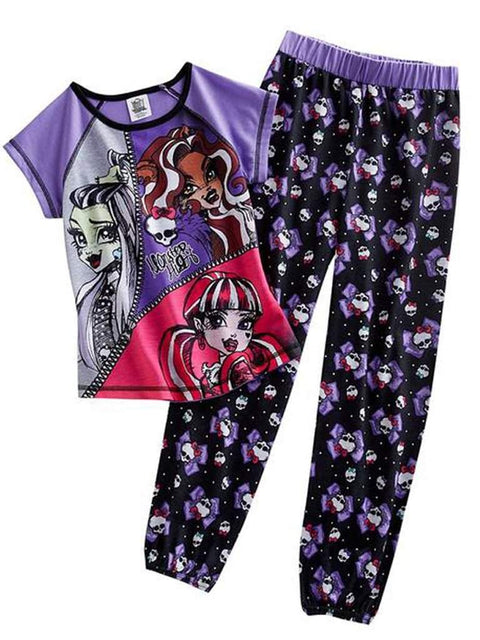 Monster High Zipper Pajama Set by Monster High - My100Brands