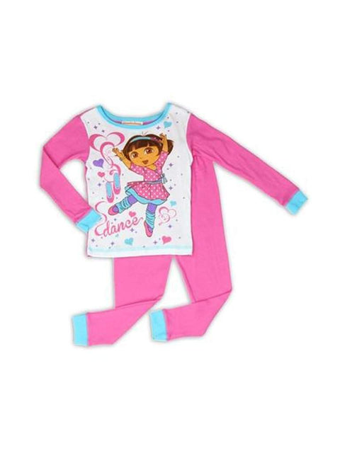 Dora The Explorer Girls 2 piece Pajama Set by My100Brands - My100Brands