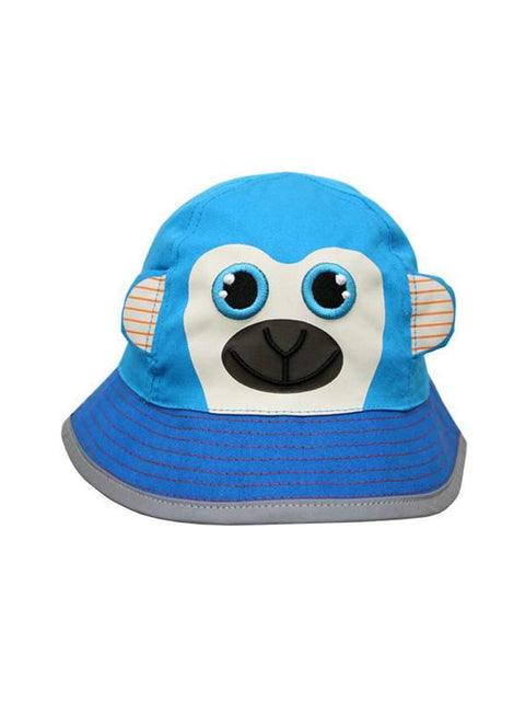 Safari Kids Marley The Monkey Bucket Hat by Safari Kids - My100Brands