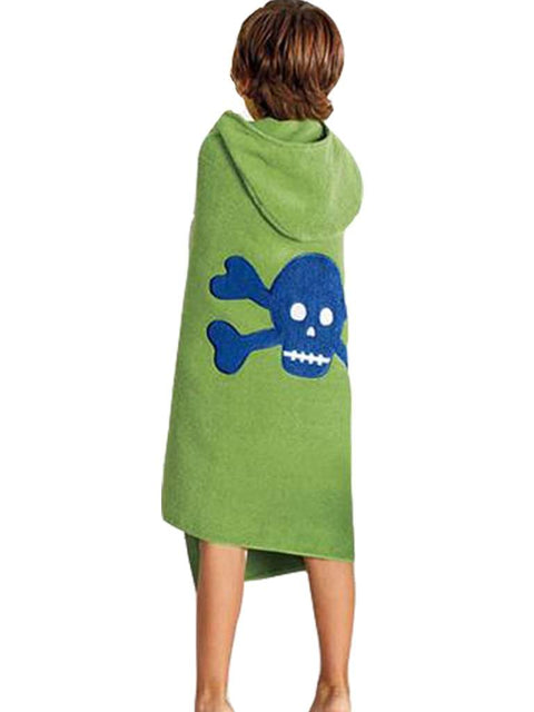 Jumping Beans Skull & Crossbones Bath Wrap by Jumping Beans - My100Brands