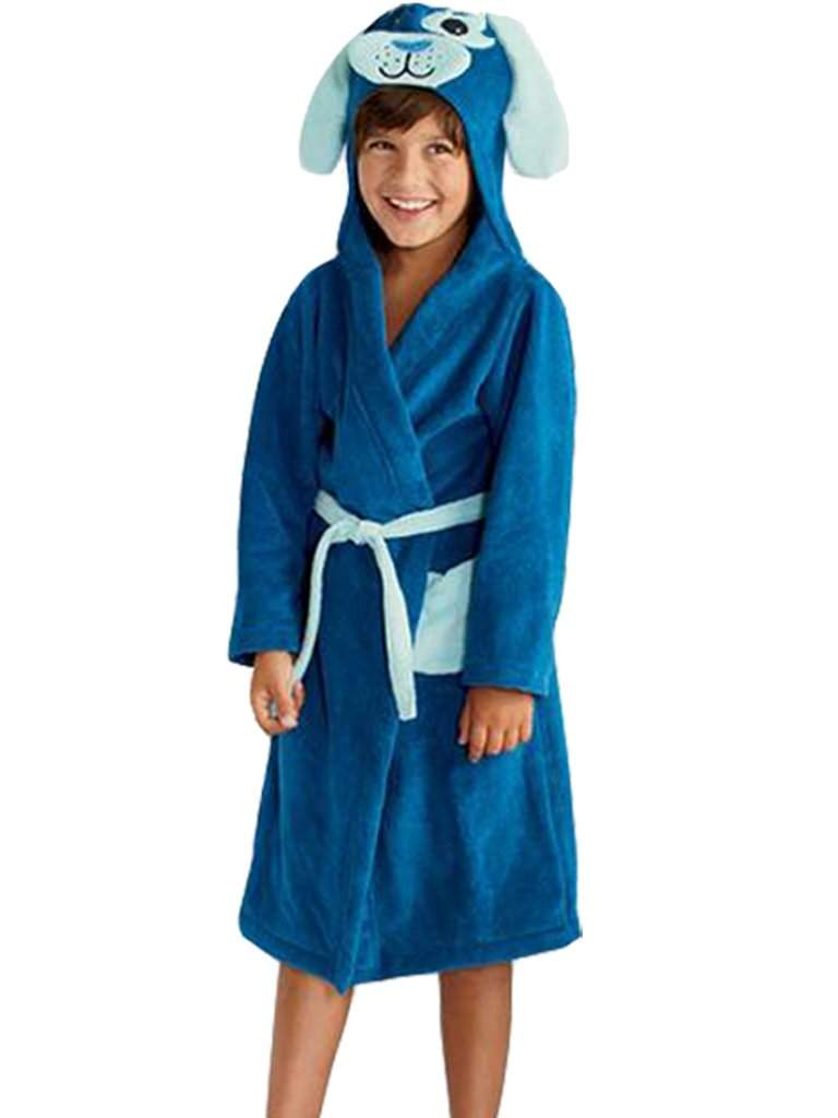 Jumping Beans Blue Dog Bath Robe by Jumping Beans - My100Brands