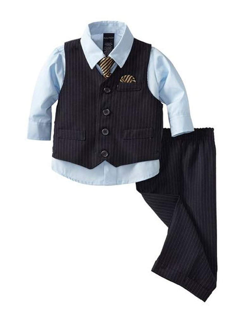 Nautica Baby Boys 4 Piece Vest Set by Nautica - My100Brands