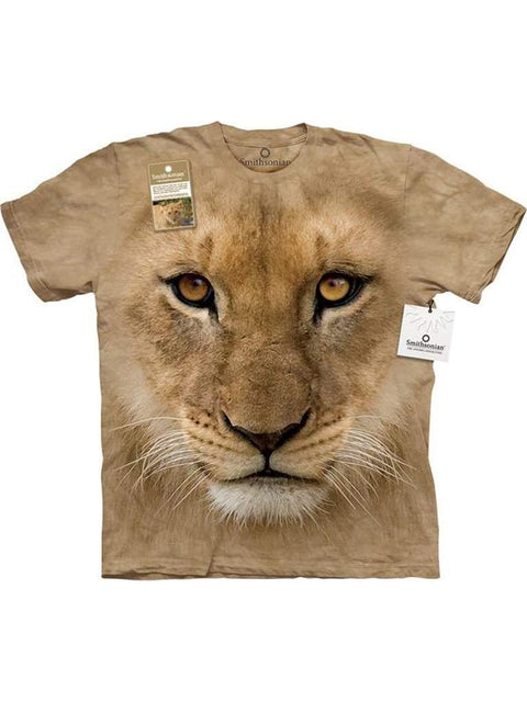 Big Face Lion Cub T-Shirt by The Mountain - My100Brands