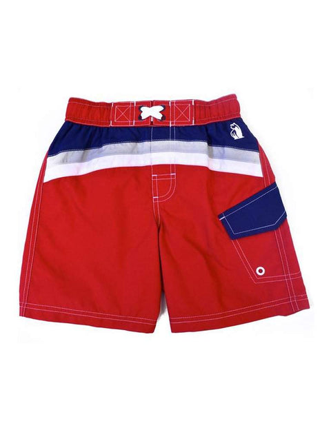 Rugged Bear Swim Shorts-Red by Rugged Bear - My100Brands