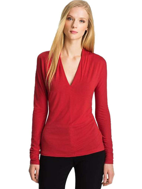 Anne Klein V-Neck Pullover Top by Anne Klein - My100Brands