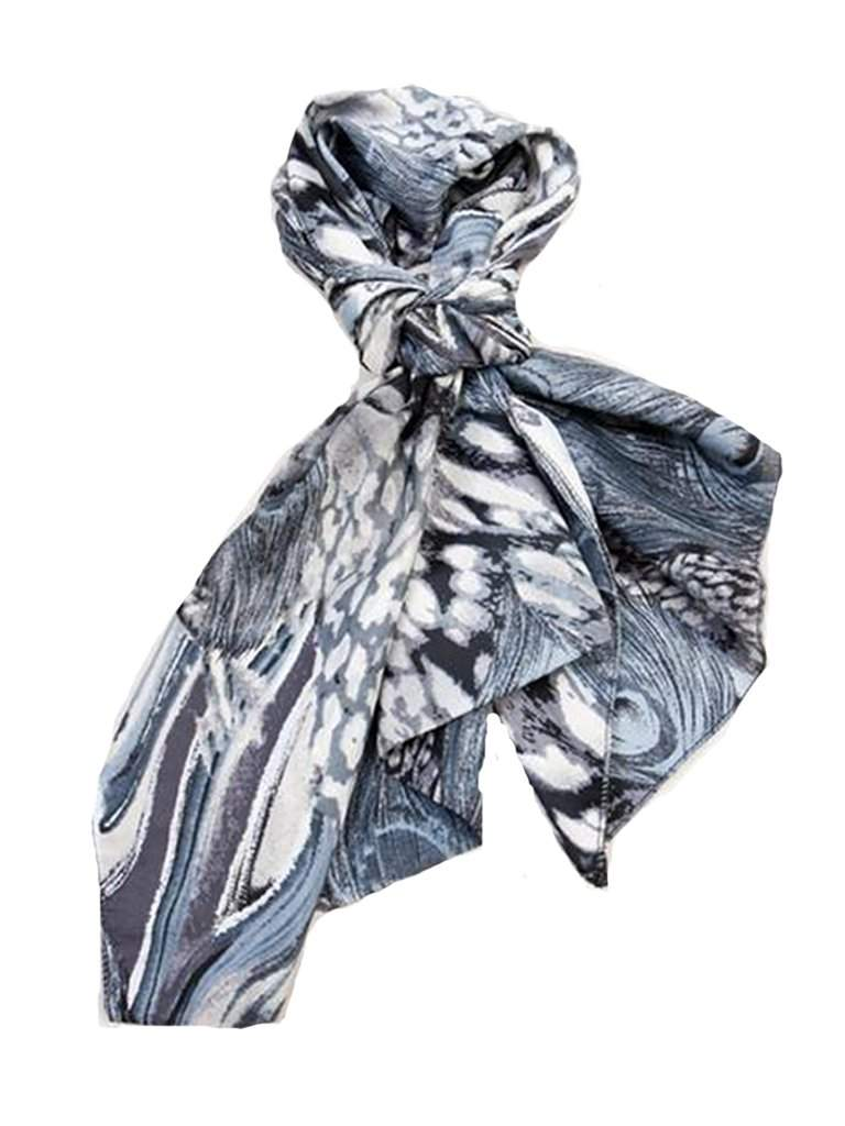 Gray Printed Scarf by My100Brands - My100Brands