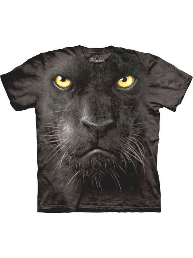 Black Panther Face T-Shirt by The Mountain - My100Brands
