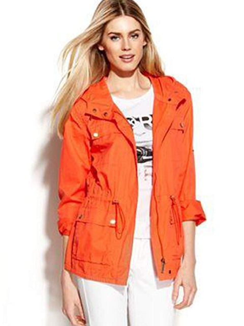 Michael Kors Roll-Tab-Sleeve Hooded Anorak by Michael Kors - My100Brands