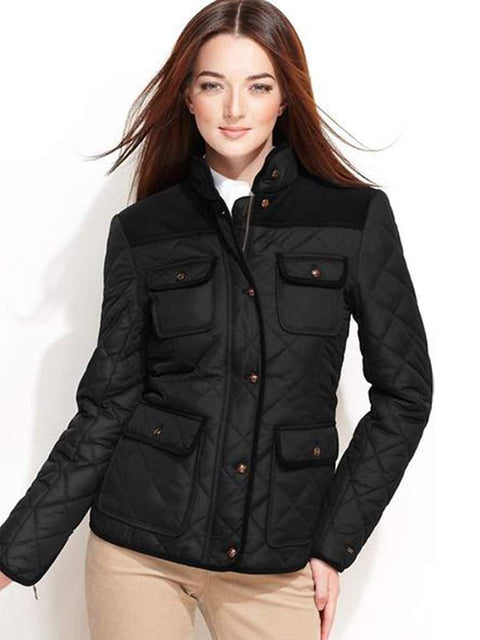 Tommy Hilfiger Quilted Barn Corduroy Jacket by Tommy Hilfiger - My100Brands