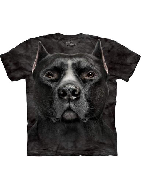 Black Pit Bull Head T-Shirt by The Mountain - My100Brands