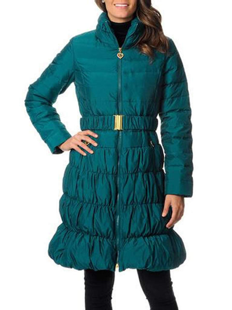 Betsey Johnson Quilted Belted Long Puffer Coat by Betsey Johnson - My100Brands