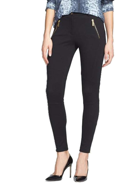 Michael Kors Black Zip Pocket Seamed Ponte Pants by Michael Kors - My100Brands