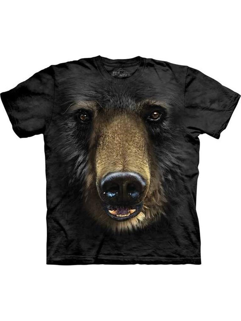 Black Bear Face T-Shirt by My100Brands - My100Brands