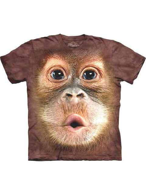 Big Face Baby Orangutan T-Shirt by The Mountain - My100Brands