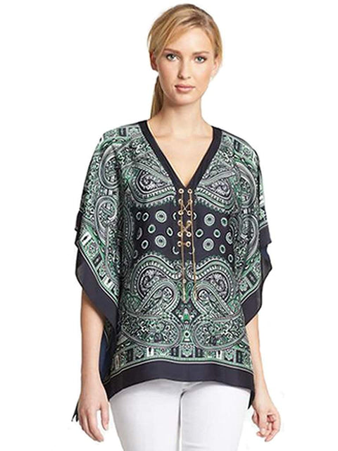 Michael Kors Paisley Print Poncho by Michael Kors - My100Brands