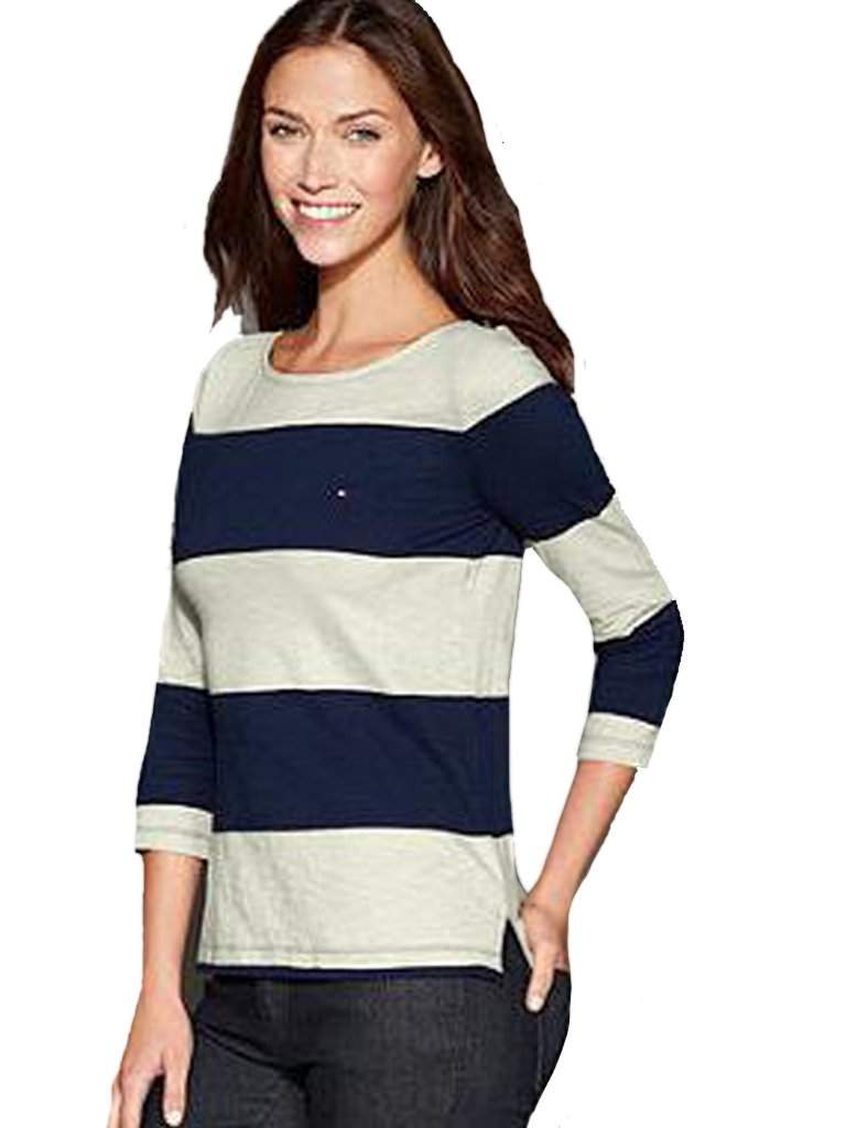 Tommy Hilfiger Rugby Striped Top - White by Tommy Hilfiger - My100Brands