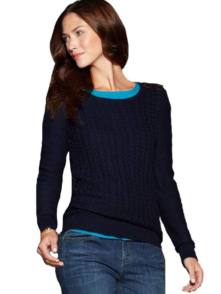 Tommy Hilfiger Long Sleeve Cable-Knit Sweater by Tommy Hilfiger - My100Brands
