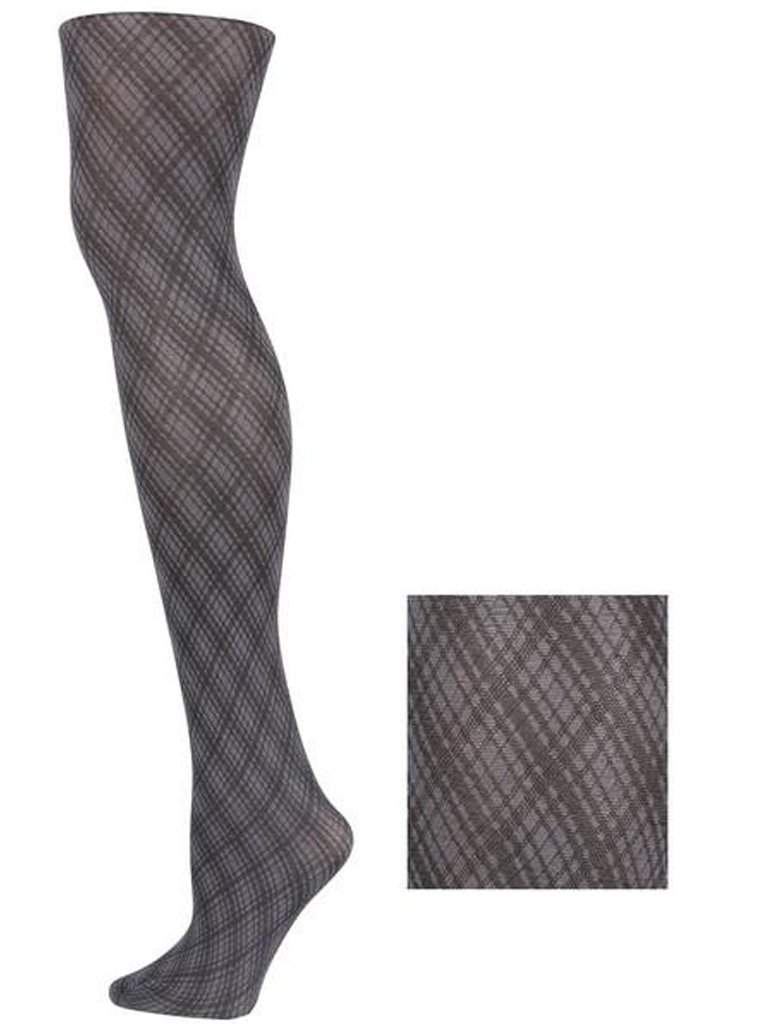 Lady's Swirling Plaid Design Fashion Tights by My100Brands - My100Brands
