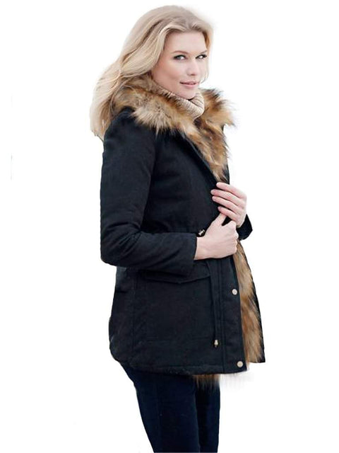 Black Military - Style Faux Fur - Lined Anorak by Fabulous-Furs - My100Brands