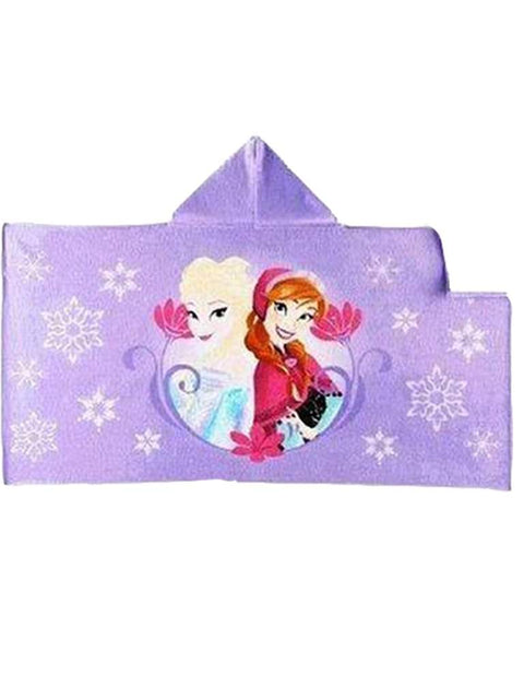 Disney Frozen Purple Anna & Elsa Hooded Towel by Disney - My100Brands