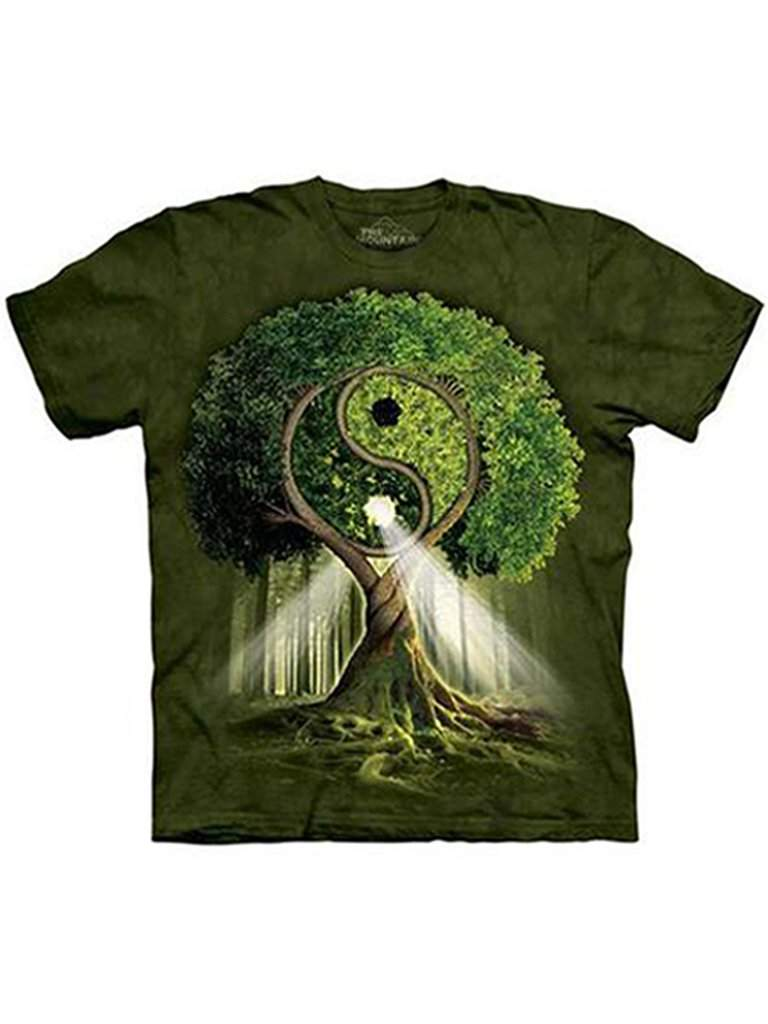Yin Yang Tree T-Shirt by The Mountain - My100Brands