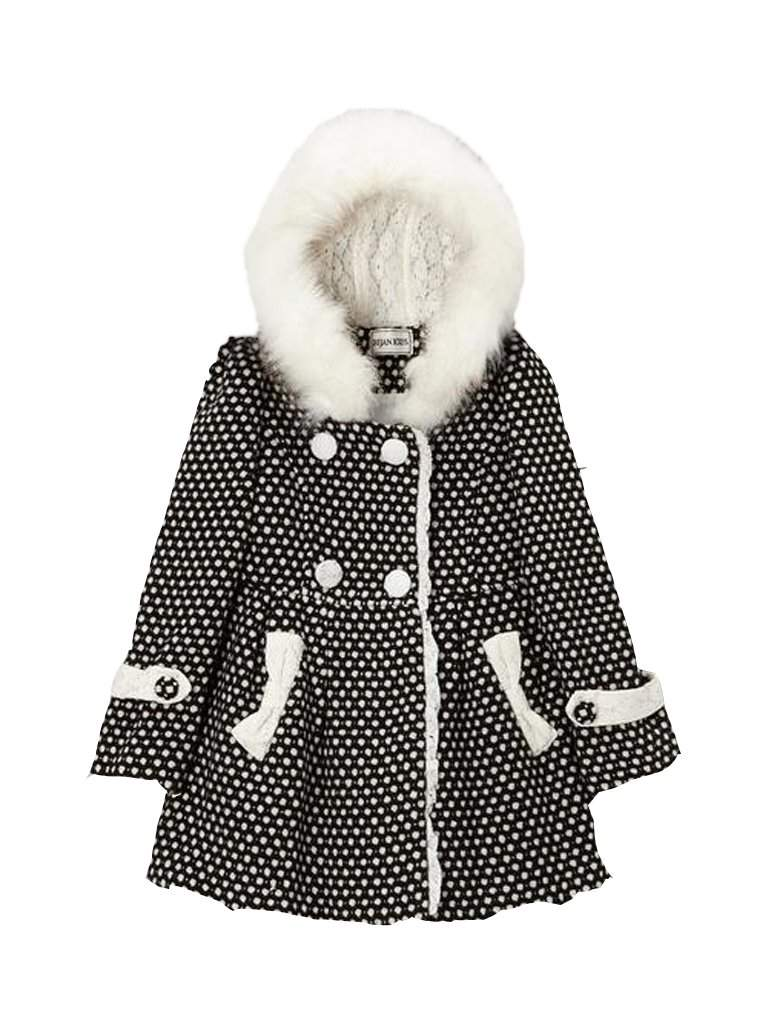 Black and White Dot Hooded Coat by My100Brands - My100Brands