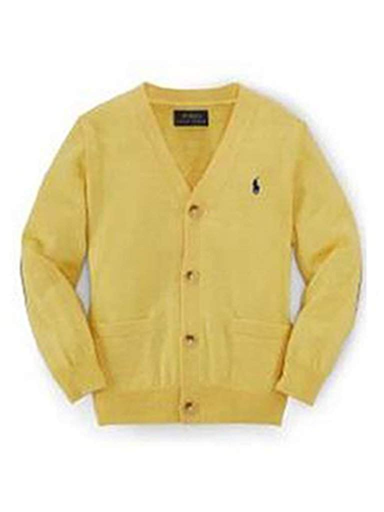 Ralph Lauren‎ Suede-Patch Merino Cardigan by Ralph Lauren - My100Brands