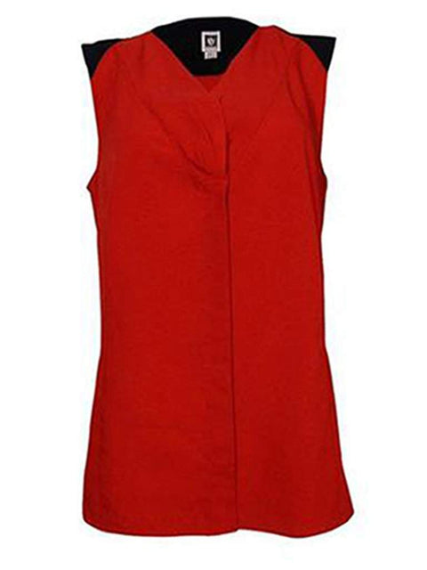 Anne Klein Colorblock V-Neck Sleeveless Blouse by Anne Klein - My100Brands