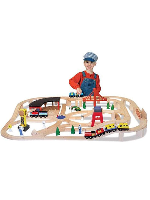 Wooden Railway Set by Melissa & Doug - My100Brands