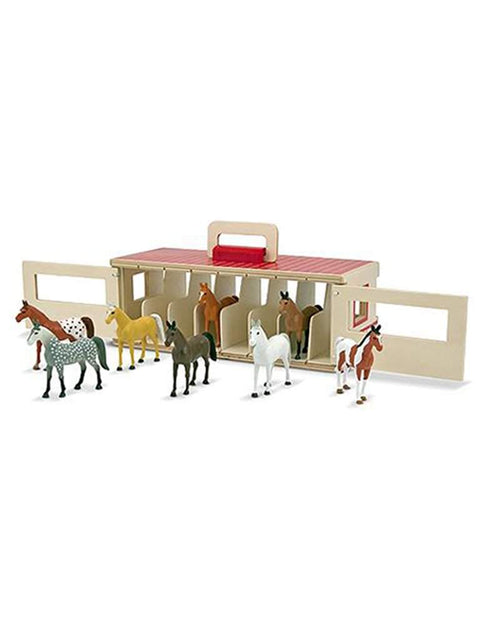 Take-Along Show-Horse Stable Play Set by Melissa & Doug - My100Brands