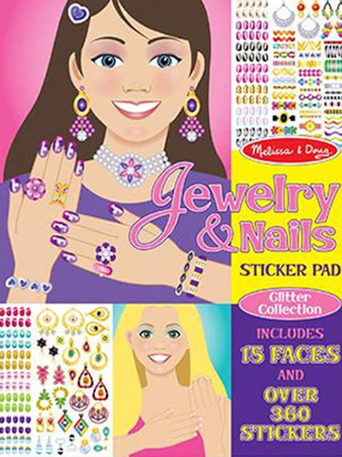 Jewelry & Nails Glitter Stickers Pad by Melissa & Doug - My100Brands