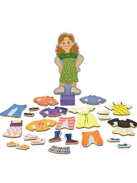 Maggie Leigh Magnetic Dress-Up Set by Melissa & Doug - My100Brands
