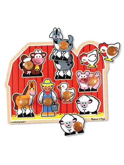 Large Farm Jumbo Knob Puzzle - 8 pieces by Melissa & Doug - My100Brands