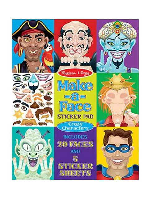 Melissa & Doug Make-A-Face Sticker Pad by Melissa & Doug - My100Brands