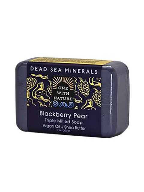 Blackberry Pear Shea and Argan Soap - 7 oz by One With Nature - My100Brands