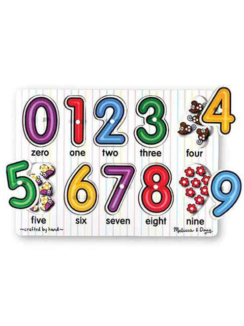 See-Inside Numbers Peg Puzzle - 10 pieces by Melissa & Doug - My100Brands