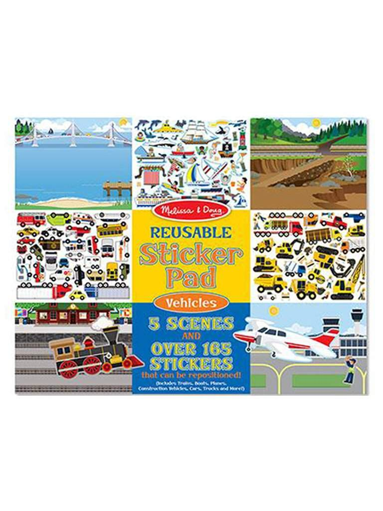 Reusable Sticker Pad - Vehicles by Melissa & Doug - My100Brands