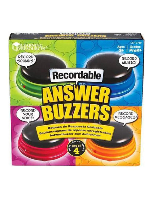 Learning Resources Recordable Answer Buzzers 4-Pc Set by Learning Resources - My100Brands