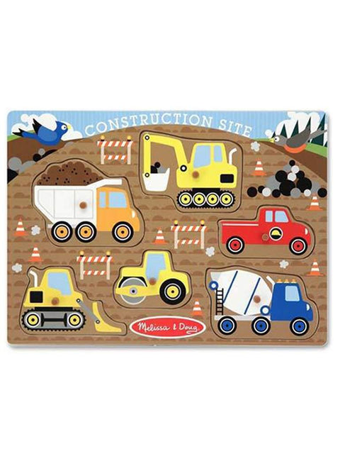 Construction Site Peg Puzzle - 6 Pieces by Melissa & Doug - My100Brands