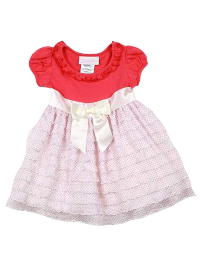 Bonnie Baby Girl's Eyelash Polka Dot Dress by Bonnie Baby - My100Brands