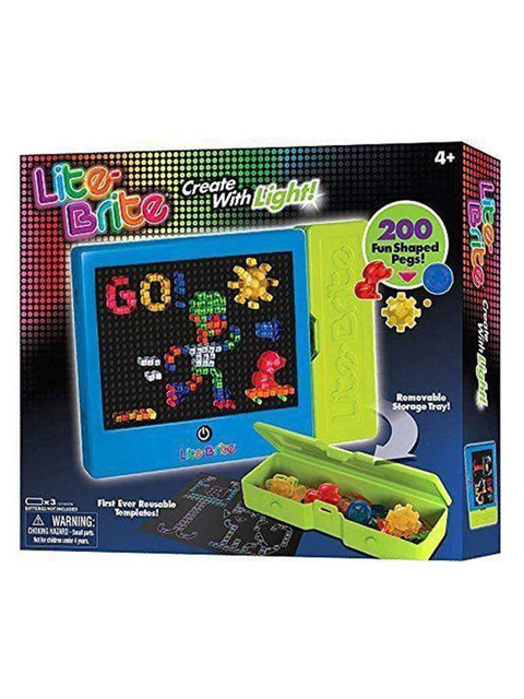 Lite Brite Classic Fun Creative Children Activity Toy Reusable Templates by My100Brands - My100Brands